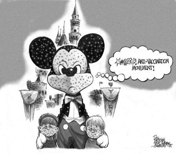 Despite the fact that many of those who contracted Measles in the Disneyland outbreak were vaccinated, the media continues to blame the incident on Anti-Vaxxers.